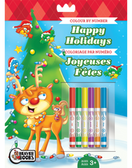 Color-by-Number with Markers: Happy Holidays