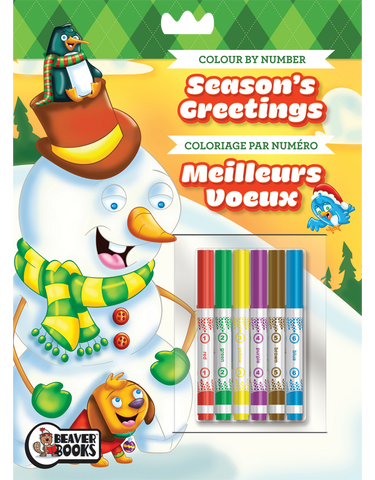 Color-by-Number with Markers: Season's Greetings