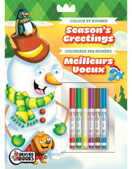 Color by Number with Markers: Season's Greetings