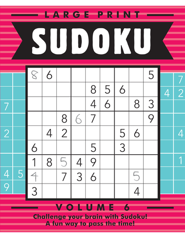 Large Print Sudoku #6: Strawberry-Cerulean