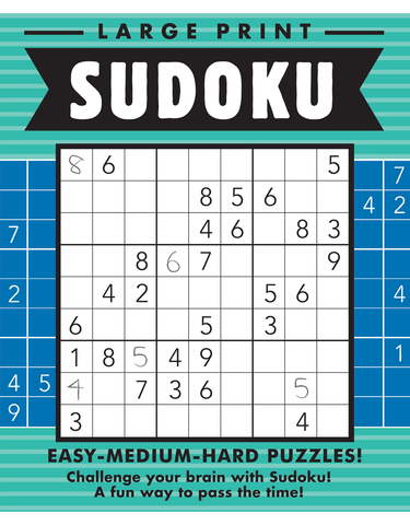 Large Print Sudoku #7: Sea-Ultramarine
