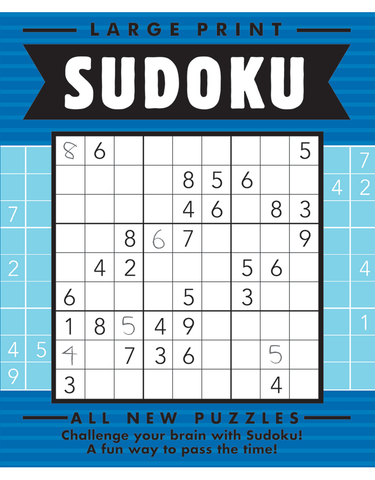 Large Print Sudoku #9: Royal Sky