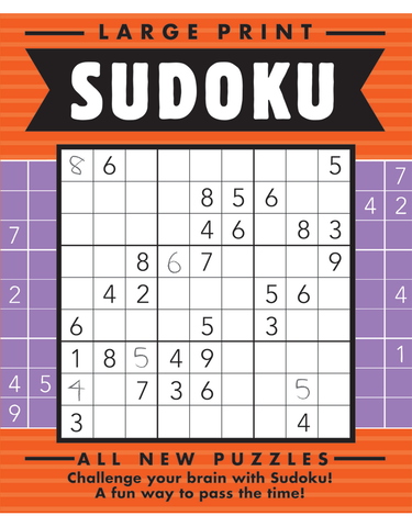 Large Print Sudoku #14: Pepper-Jelly