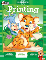 Early Learning Workbook: Kindergarten Printing