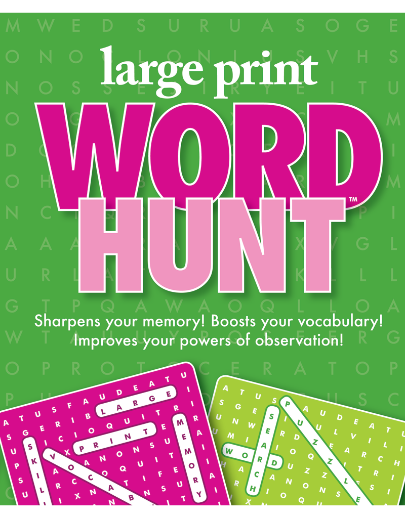 Large Print Word Hunt™ #8: Rose-Moss