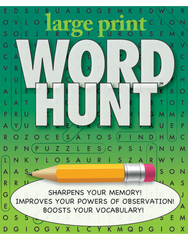Large Print Word Hunt™ #11: White-Emerald