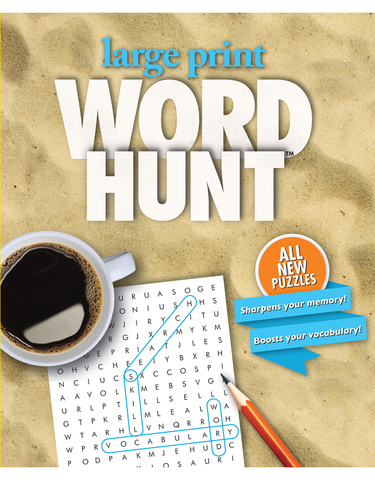 Large Print Word Hunt™ #30: Sandy Beach