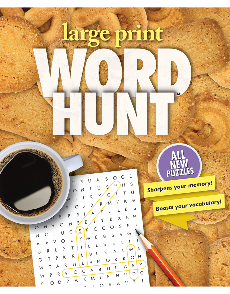 Large Print Word Hunt™ #33: Butter Cookies