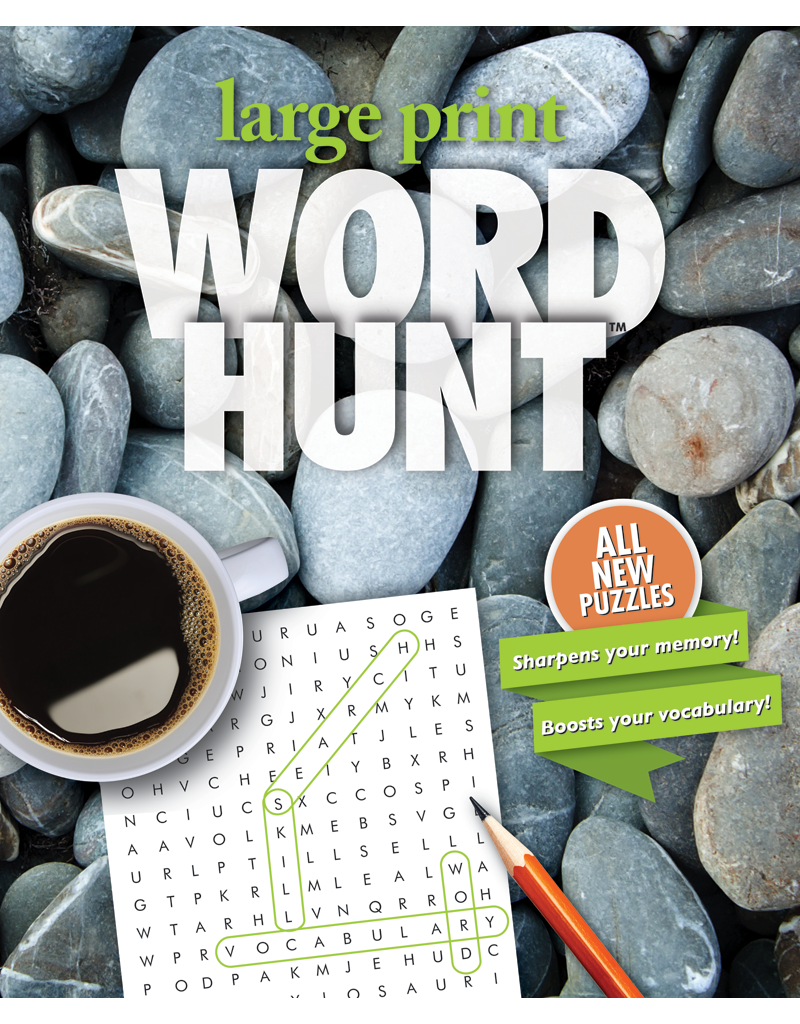 Large Print Word Hunt™  #34: Pebbled Path