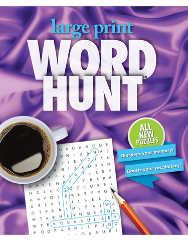 Large Print Word Hunt™ #35: Amethyst Silk