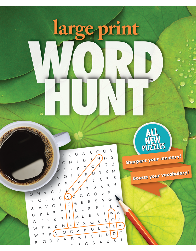 Large print word hunt 36 garden pond beaver books for Garden pool book