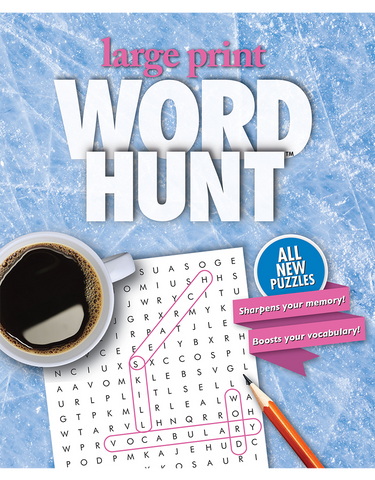 Large Print Word Hunt™ #37: Frosted Pane