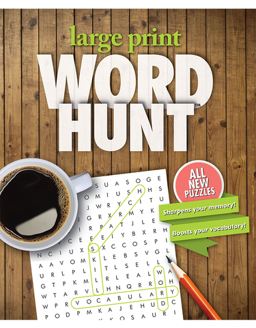 Large Print Word Hunt™ #38: Antique Pine