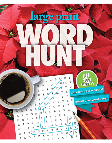 Large Print Word Hunt™ #39: Crimson Holiday