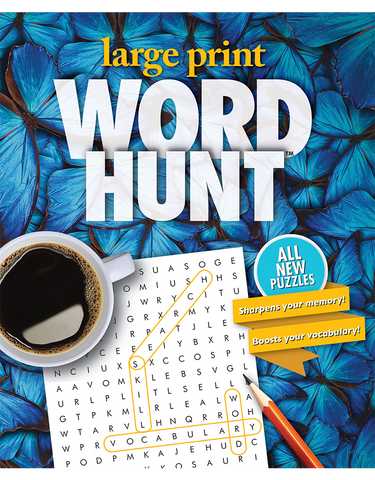 Large Print Word Hunt™ #40: Blue Morpho