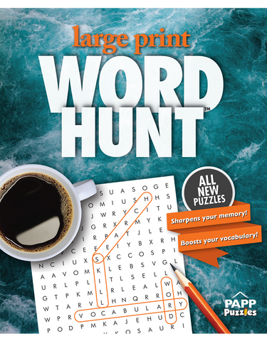 Large Print Word Hunt™ #42: Rushing Water