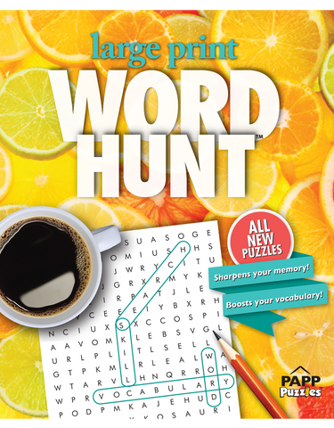 Large Print Word Hunt™ #43: Citrus Zest