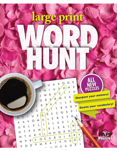 Large Print Word Hunt™ #44: Pink Petals