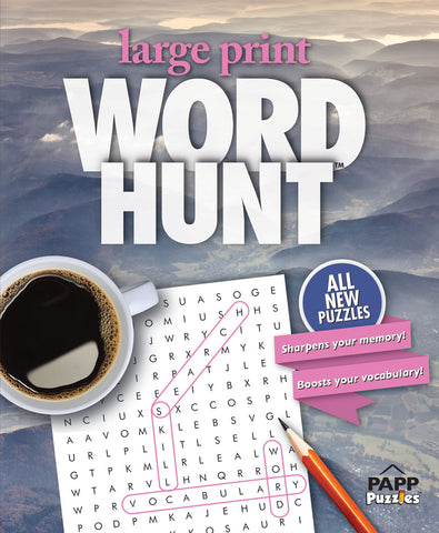 Large Print Word Hunt™  #46: Misty Mountains