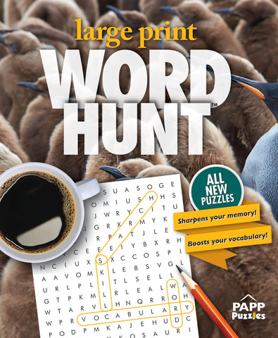 Large Print Word Hunt™  #54: Penguin Huddle