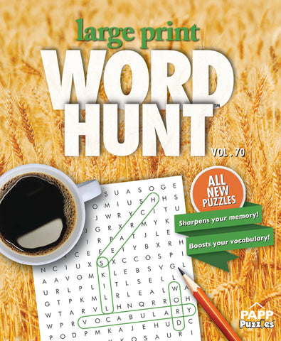 Large Print Word Hunt™  #70: Golden Wheat