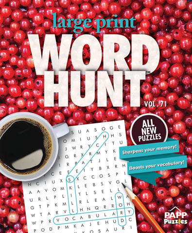 Large Print Word Hunt™  #71: Fresh Currants