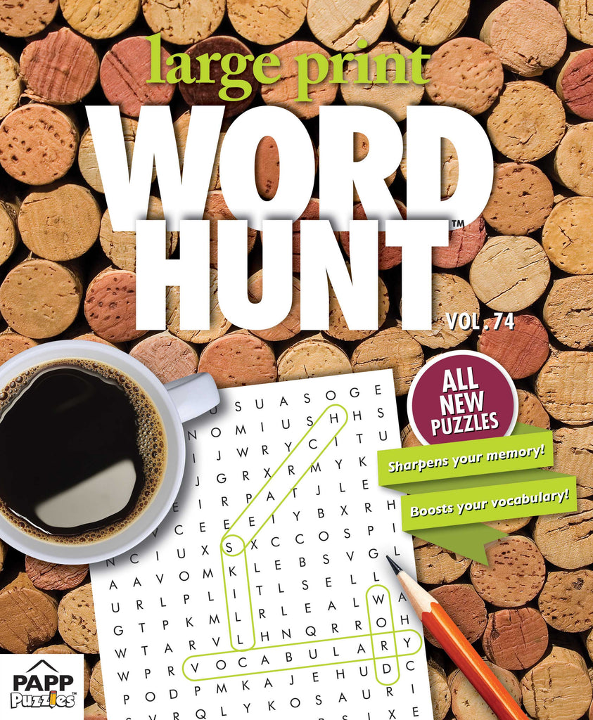 Large Print Word Hunt™  #74: Wine Lovers