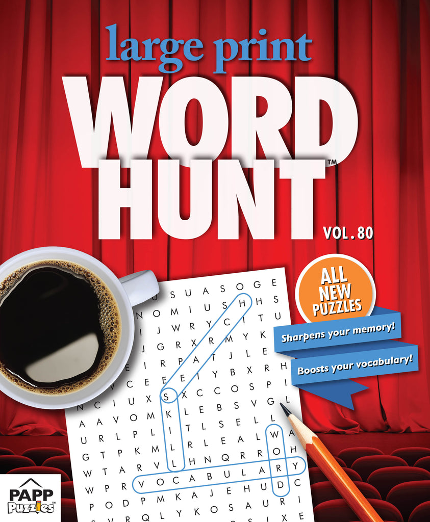 Large Print Word Hunt™  #80: Red Curtain