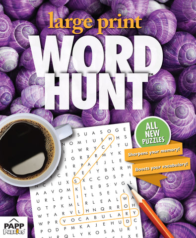 Large Print Word Hunt™  #83: Violet Shells