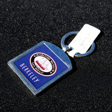 Berkeley Steam Ferry metal fob keychain with museum logo on back.