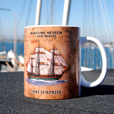 HMS Surprise antique style Coffee Mug