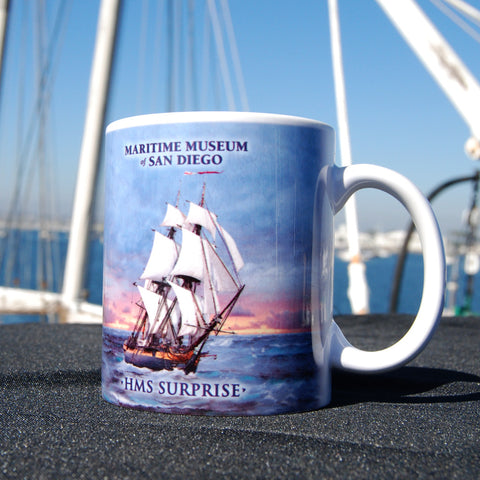 HMS Surprise on the high seas Coffee Mug