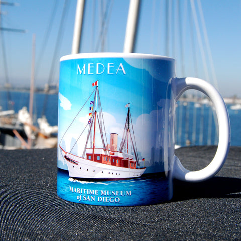 Medea Steam Yacht Coffee Mug