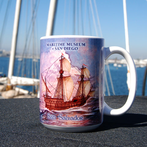 San Salvador on the high seas Coffee Mug