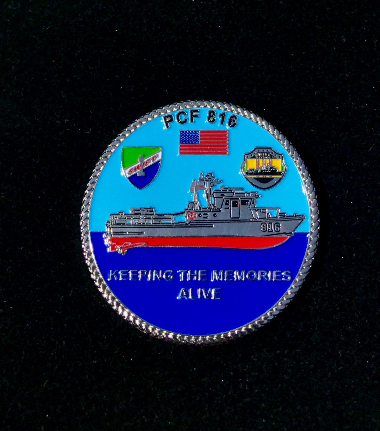 Challenge Coin PCF-816 Swift Boat