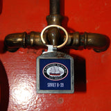B39 Soviet Submarine metal fob keychain with museum logo on back.
