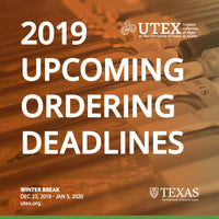 Upcoming 2019 Ordering Deadlines