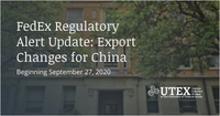 FedEx Regulatory Alert Update: U.S. BIS Export Control Changes for China