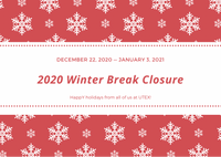 2020 Winter Holiday Closure | Knowledge base support links