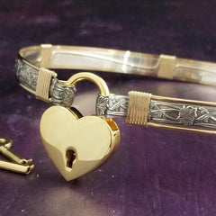 THE SOFT AND SWEET COLLECTION is the epitome of classic beauty. Show your ownership/submission with style and grace.  This BDSM Locking submissive collar is hand crafted in a romantic, floral pattern of sterling silver or 14k Gold Filled.