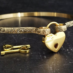 The Wild Flower Collection of BDSM Submissive Jewelry. Beautifully discreet collars and cuffs by My Secret Heart Studios
