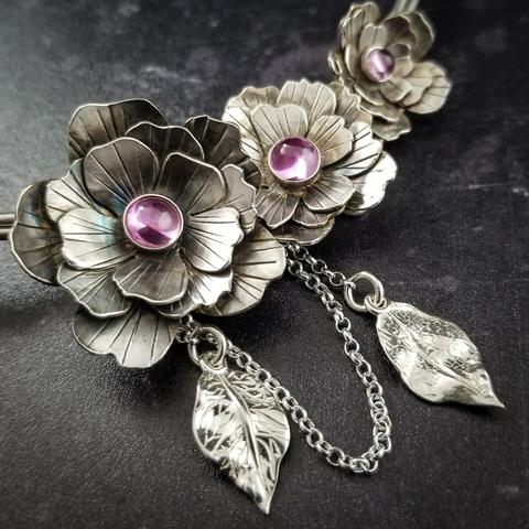 Hand cut and sculpted roses for your submissive collar