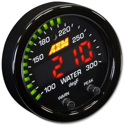 AEM X-Series Temperature Gauge Water/Trans/Oil