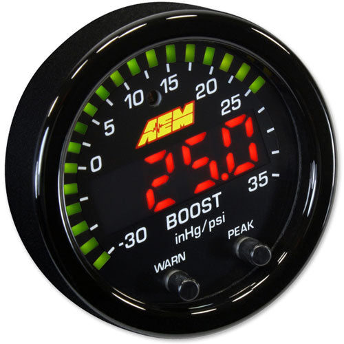 AEM X-Series Boost Pressure Gauge -30inHg-35psi / -1-2.5bar