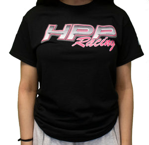 Womens Fit T-Shirt (Black w/ Pink Logo)