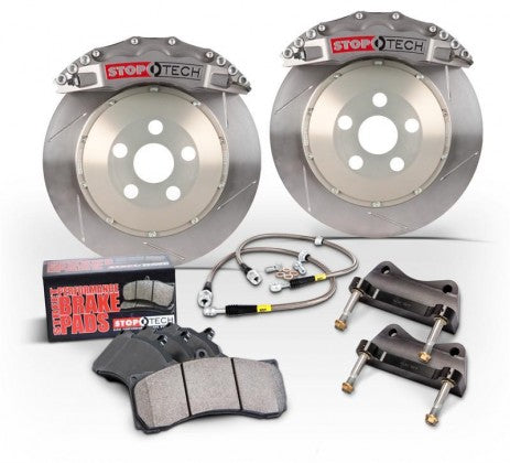 StopTech 07-2014 Mustang 380x32mm Big Brake Kit - Replaces OEM Brembos (Trophy Sport 6 Piston Caliper - Slotted Zinc Coated Rotor)