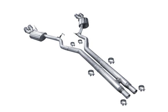 American Racing Headers - MTC5-18214212CTBK Stainless Steel Quad Tip Catback Exhaust System (2018+ Mustang GT)
