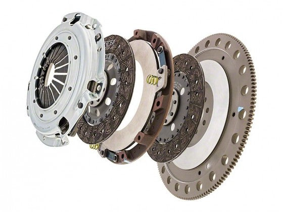 Exedy Stage 4 Twin Disc Organic Clutch Kit - 23 Spline (2011-2017 Mustang GT) - ET05SRFD