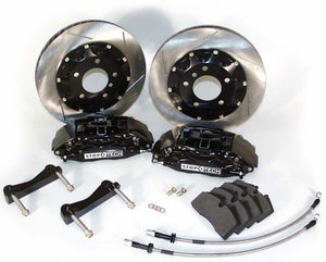 Stop-Tech - (1994-04) Mustang 332mm Big Brake Kit (Black Caliper - Slotted Rotor)