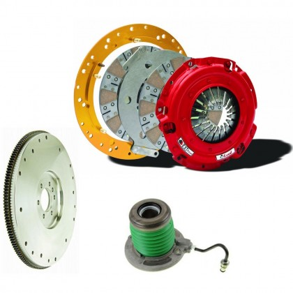 Mcleod - (2011-17) Mustang GT / 2012-2013 Boss 302 RXT Twin Disc Clutch Kit w/Aluminum Flywheel (Sprung Hub)